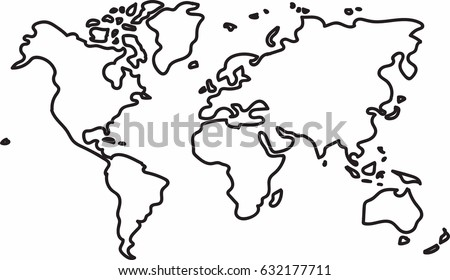 Freehand world map sketch on white vector de stock632177711 freehand world map sketch on white background gumiabroncs Images