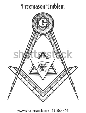 Square and compass stock images royalty free images for Masonic symbol tattoos