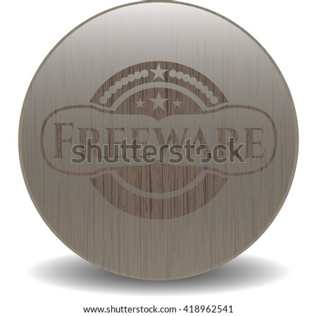 Freeware wood icon or emblem