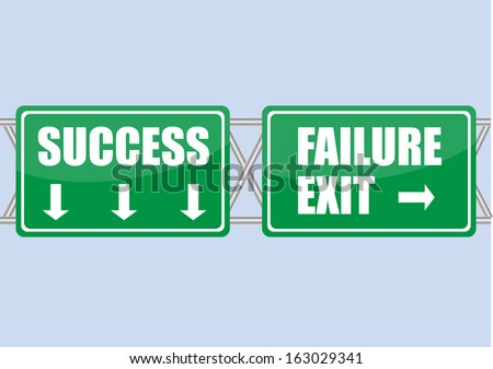 freeway sign with success and failure word vector images ...