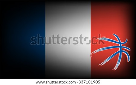 French basket ball, vector  - stock vector