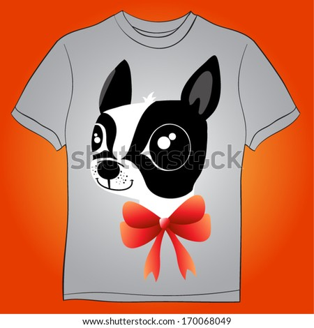 french bulldog - stock vector