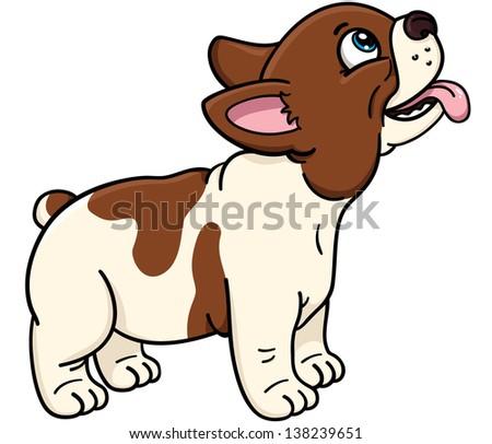 French Bulldog. Cartoon illustration of cute french bulldog - stock vector
