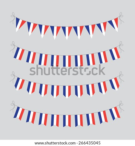 french bunting - stock vector