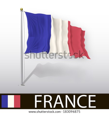 French Flag - stock vector