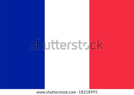 French flag isolated vector illustration