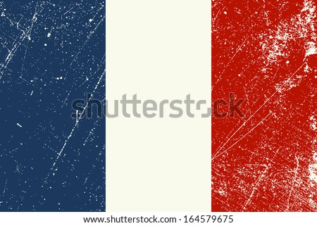 French Flag vintage - stock vector