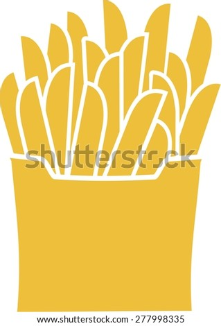 French Fries Fast Food  - stock vector