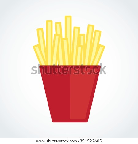 French fries in a red package eps 10 - stock vector