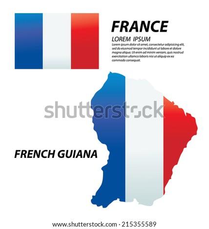 French Guiana - stock vector
