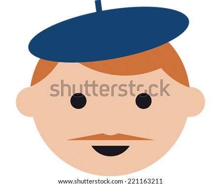 French Guy - stock vector