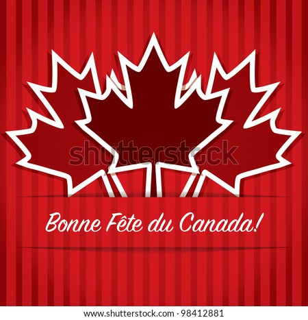 French 'Happy Canada Day' card in vector format. - stock vector