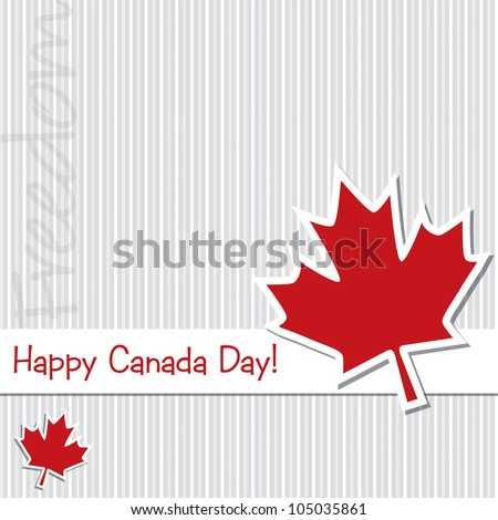 French 'Happy Canada Day' sticker card in vector format. - stock vector