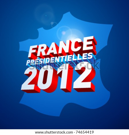 French presidential election in 2012 - stock vector
