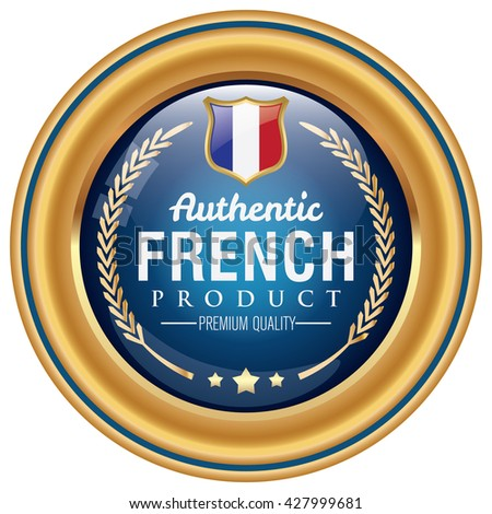 french product icon - stock vector