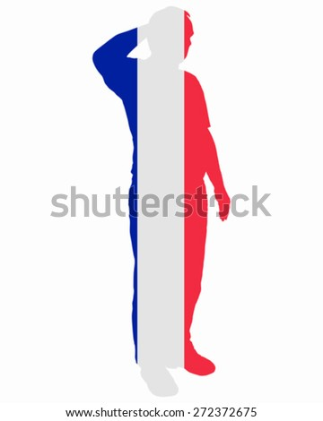 French Salute - stock vector