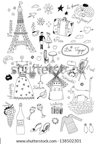 French Set - stock vector