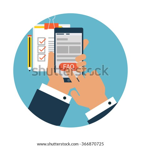 Frequently asked questions concept - stock vector