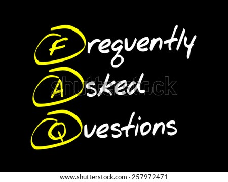 Frequently Asked Questions (FAQ), business concept acronym - stock vector