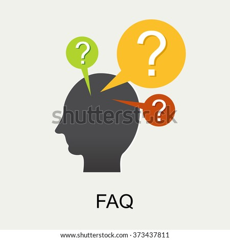 Frequently Asked Questions FAQ concept illustration concept. Online support concept. Human question.