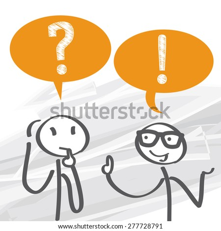 Frequently Asked Questions - vector illustration - stock vector
