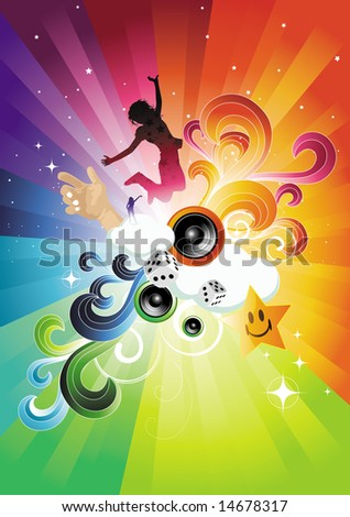 Fresh and energetic! All elements are individual objects and no flattened transparencies. See my gallery for more. - stock vector