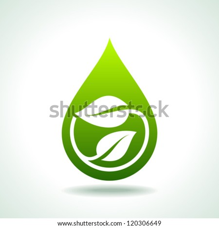fresh and natural, save green concept - stock vector