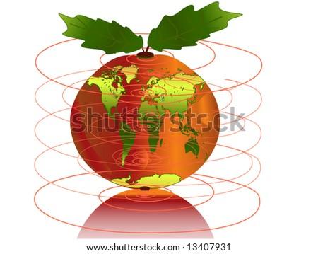 Fresh apple world map stock vector 13407931 shutterstock fresh apple with world map gumiabroncs Images