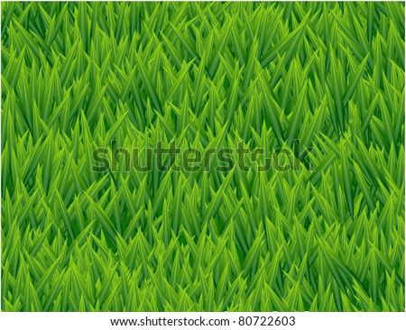 Fresh grass seamless vector pattern. - stock vector