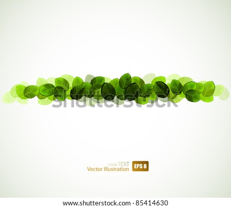 fresh green leaves design - stock vector