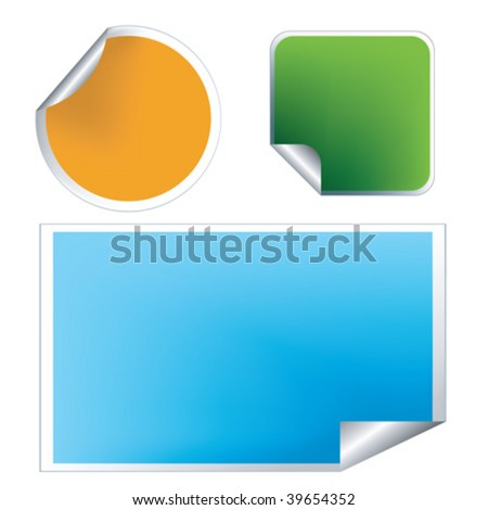 Fresh labels, stickers set for commercial use - stock vector