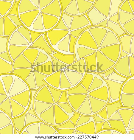 Fresh lemon citrus seamless pattern. Vector eps10