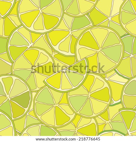 Fresh lime citrus seamless pattern. Vector eps, added to swatches - stock vector