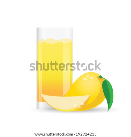 Fresh Mango juice splash - stock vector