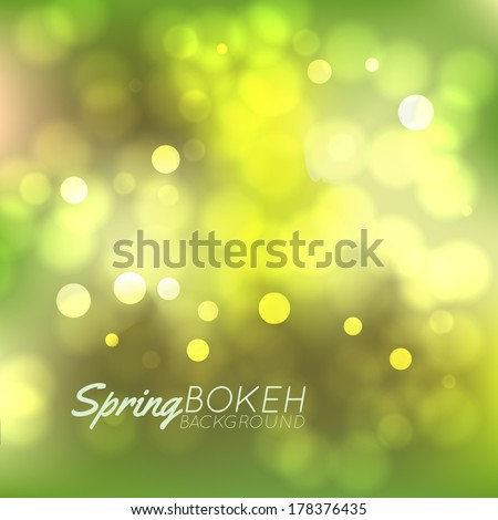 Fresh Spring bokeh background, vector - stock vector