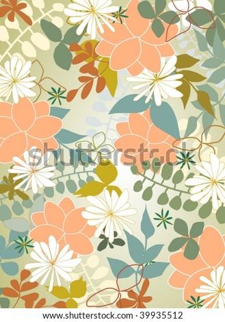 fresh spring nature motive - stock vector
