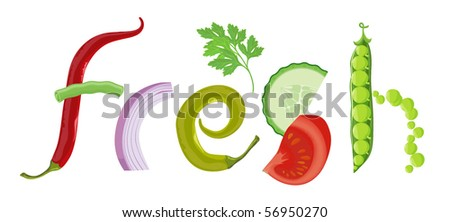 Fresh. Vector. - stock vector