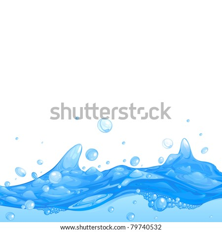 fresh water vector background