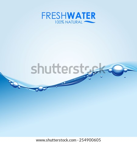 Fresh Water Wave - stock vector