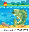 Freshwater fish theme image 4 - vector illustration. - stock vector
