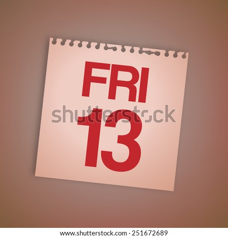 Friday 13th on Old Paper Vector - stock vector