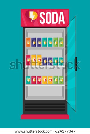 Fridge drink drinks cans flat vector stock photo photo vector fridge drink with drinks in cans flat vector publicscrutiny Image collections