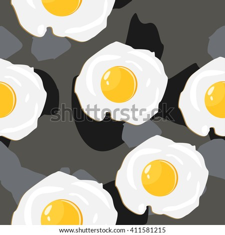 Fried eggs pattern colorful