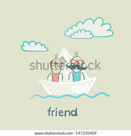 friend - stock vector