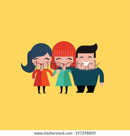 friends - stock vector