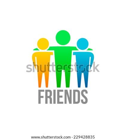 Friends icon design vector template - stock vector