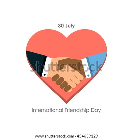 Friends Shake hand - Elegant beautiful card design for friendship day. vector illustration - stock vector