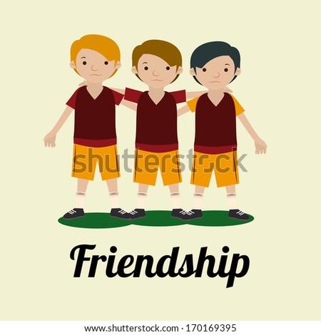 friendship,design  over white background vector illustration - stock vector