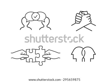 Friendship icons - stock vector