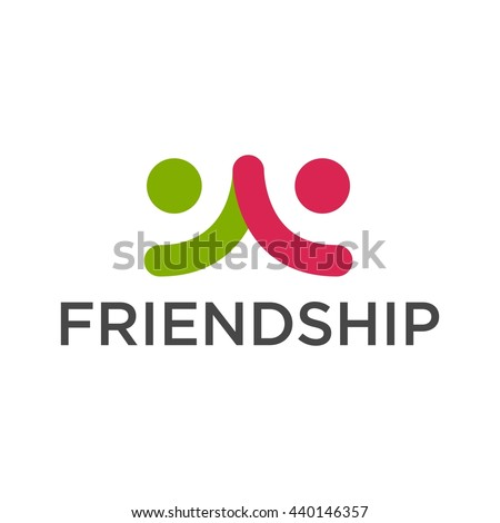 Friendship Teamwork Connectivity Logo Template Stock Vector ...
